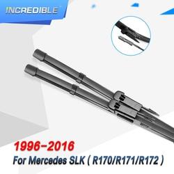 Lâminas de limpador incríveis para mercedes benz slk classe r170 r171 r172 de 1996 a 2016 slk 200 250 300 350 55 amg cdi