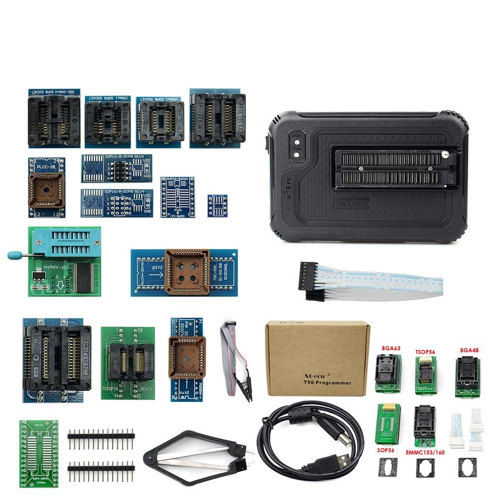 مبرمج عالمي أصلي من UPMELY موديل T56 يدعم تقنية XGecu ومناسب قوي ولا/فلاش NAND/EMMC + 17/22 جهاز حاسبة للبرمجة