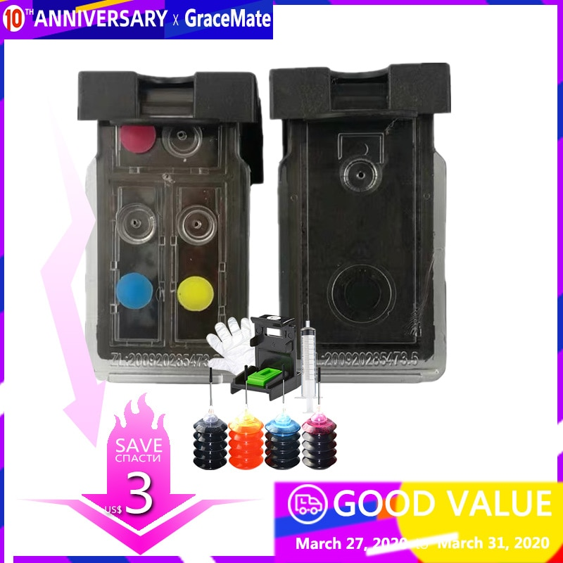Заправка более 25 раз, многоразовый картридж PG 445 CL 446 для Canon Pixma IP2840 MX494 MG2440 MG2540 MG2940 принтер 2540