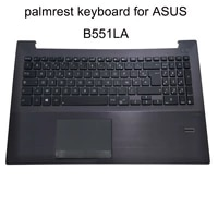 french azerty keyboards touchpad keyboard for asus b551la b551 b551l b551lg b551lp fr notebook pc brown palmrest 90nb03k1 r30040