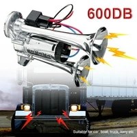 600db 12v dual trumpets super loud electric solenoid valve car electric air horn speaker for vehicle suv truck lorry rv boat