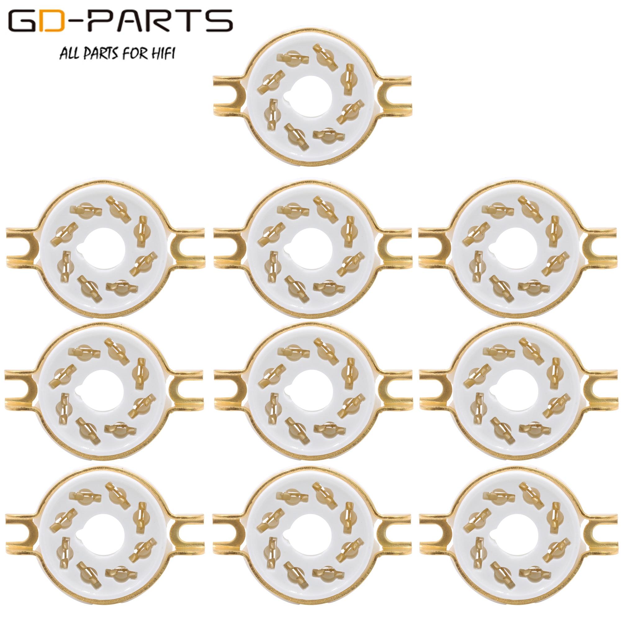 10PCS Chassis Mount 8 Pin K8A Octal Ceramic Tube Sockets for KT88 KT66 6SN7 5AR4 GZ34 5881 6V6 5U4G 6550 6J7 6SJ7