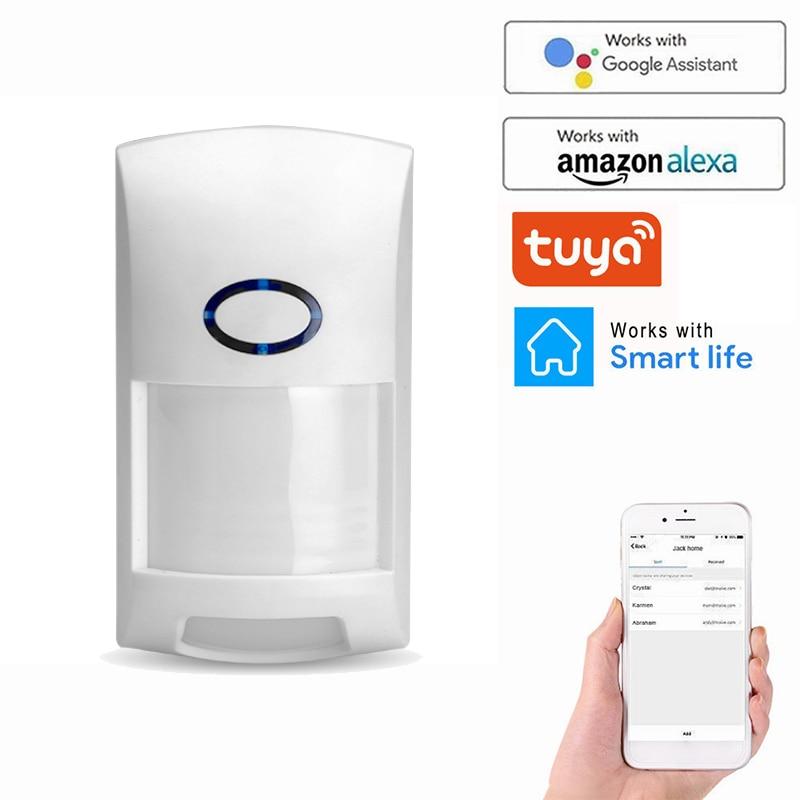 Tuya Smart WiFi Infrared Detectors Outdoor Wireless PIR Alarm Motion Sensor Compatible With Tuya/Smart Life APP Smart Home