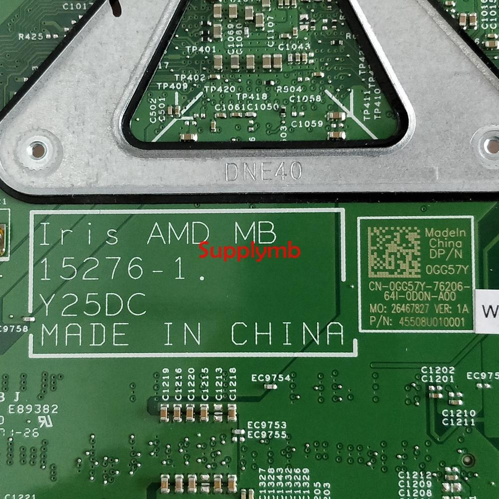 CN-0GG57Y 0GG57Y GG57Y 15276-1 Y25DC w E2-7110 CPU for DELL Inspiron 15 3565 NoteBook PC Laptop Motherboard Tested enlarge