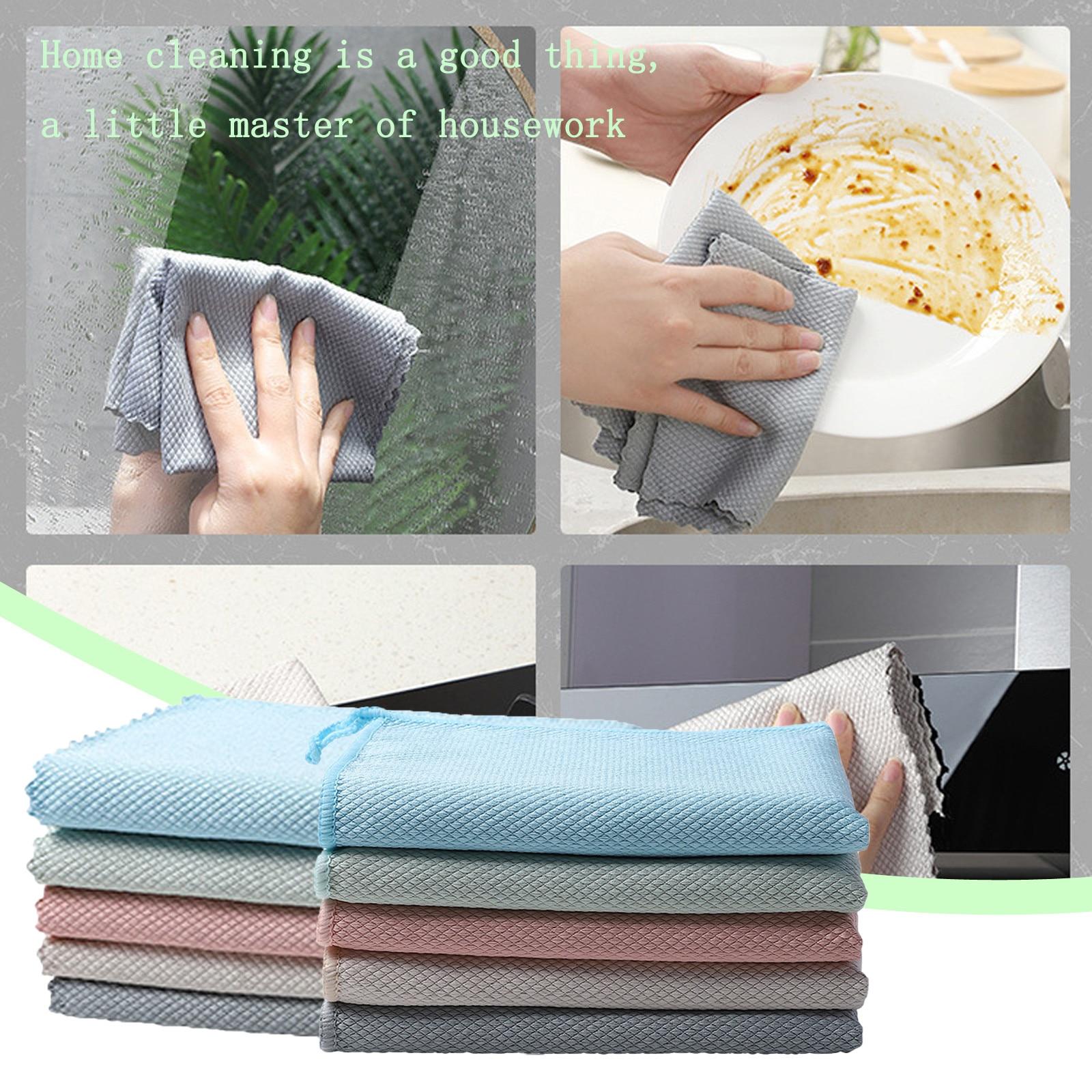 Чистящие полотенца, бытовые чистящие салфетки из микрофибры для мытья посуды, посуды, полотенца и посуды, инструмент для уборки дома