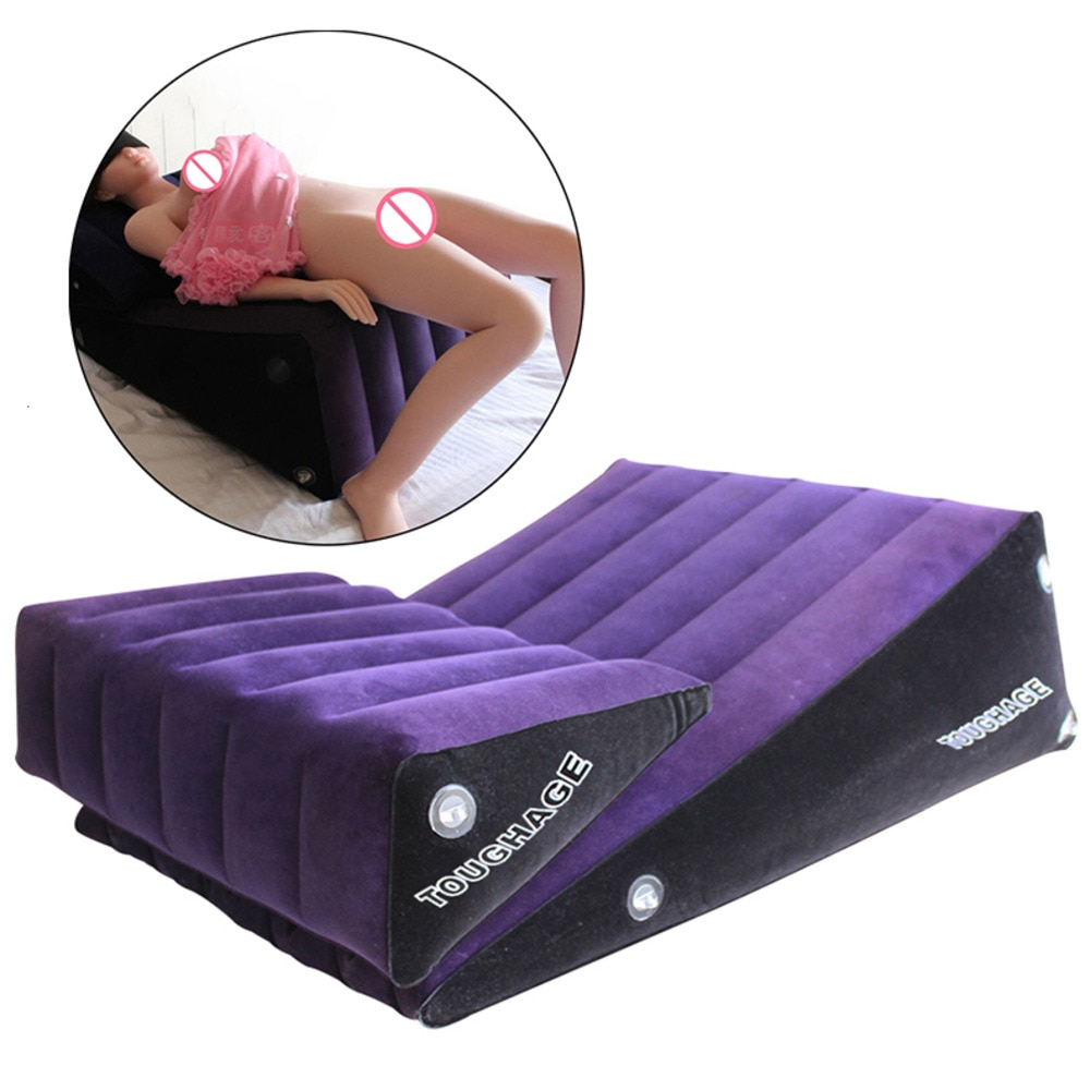 Double cale rampe Position sexe oreiller Kit gonflable lit coussin Triangle corps soutien coussin jouets adulte meubles