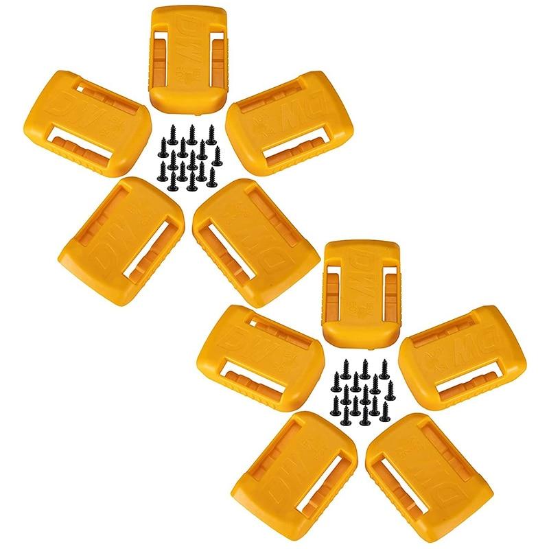 10 حزمة حامل بطارية لديوالت 20 فولت/60 فولت يتصاعد البطارية/شماعات/قفص الاتهام حامل صالح للبطارية DCB200 DCB203 DCB205