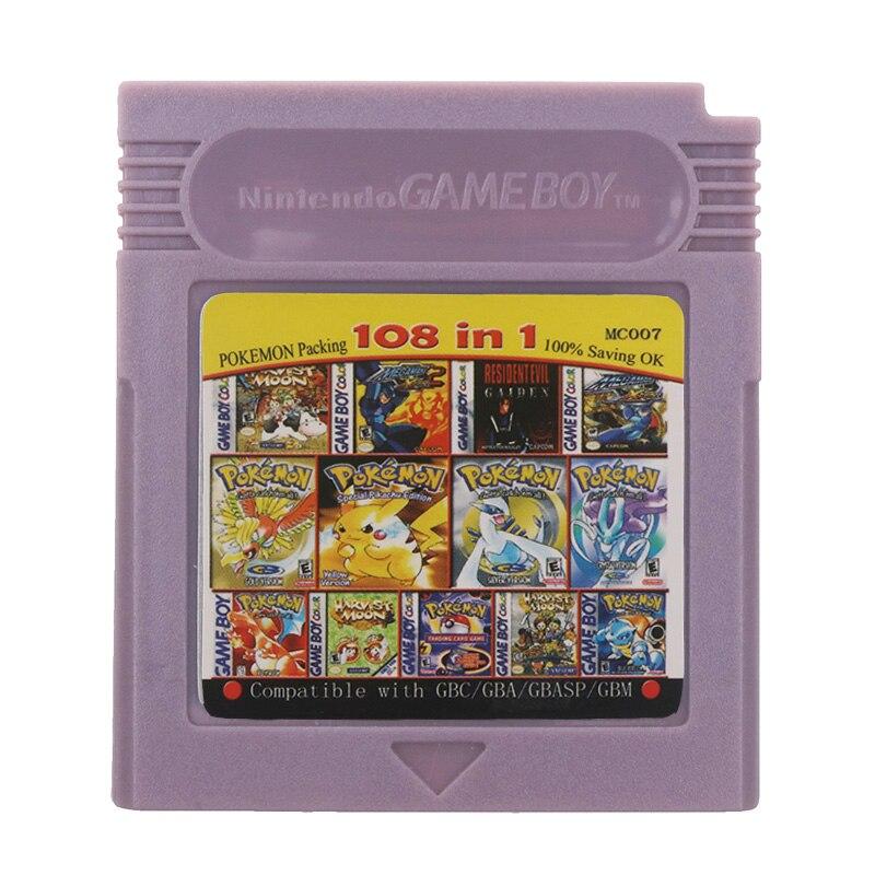 Für Nintendo GBC Video Spiel Patrone Konsole Karte 108 in 1 Zusammenstellung Englisch Sprache Version