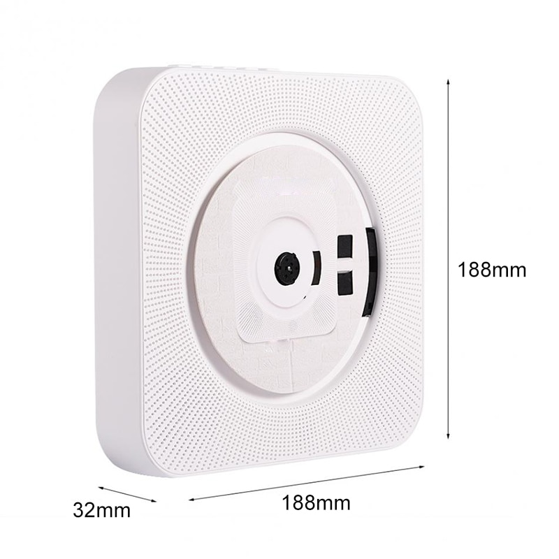 Portable CD MP3 Bluetooth Player Wall Mountable Home Audio Boombox Speaker Prenatal with Remote Control FM Radio USB Repeater enlarge