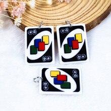 14 قطعة 34 مللي متر * 25 مللي متر البوكر لعبة بطاقة سحر Flatback الراتنج الحرف ل المعلقات أقراط قلادة Diy مفاتن    -