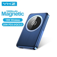 YKZ 10000mAh Power Bank For MagSafe iPhone 12 PD 20W 15W Wireless Charger Magnetic PowerCore Externa
