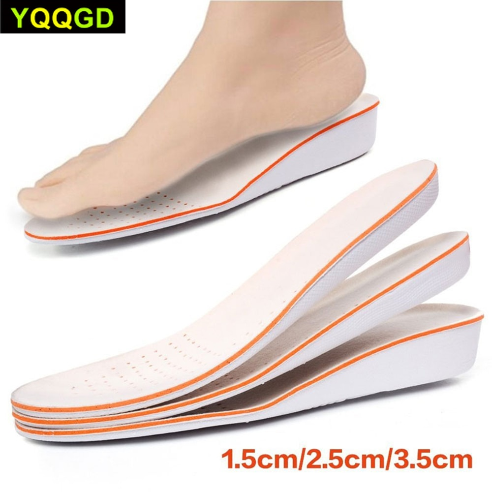 1Pair Sport Height Increase Insole Men and Women School Insoles Shock Absorbing Insoles EVA Silicone