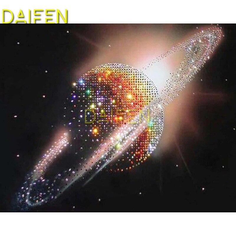 5d diy diamante bordado quadrado completo pintura diamante ponto cruz brilhando planeta saturno completo diamante redondo mosaico