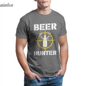 Пивной охотник, забавный подарок для охотников, футболка с принтом, милый аниме кавайный 4XL 5XL 6XL, мужская одежда 25597