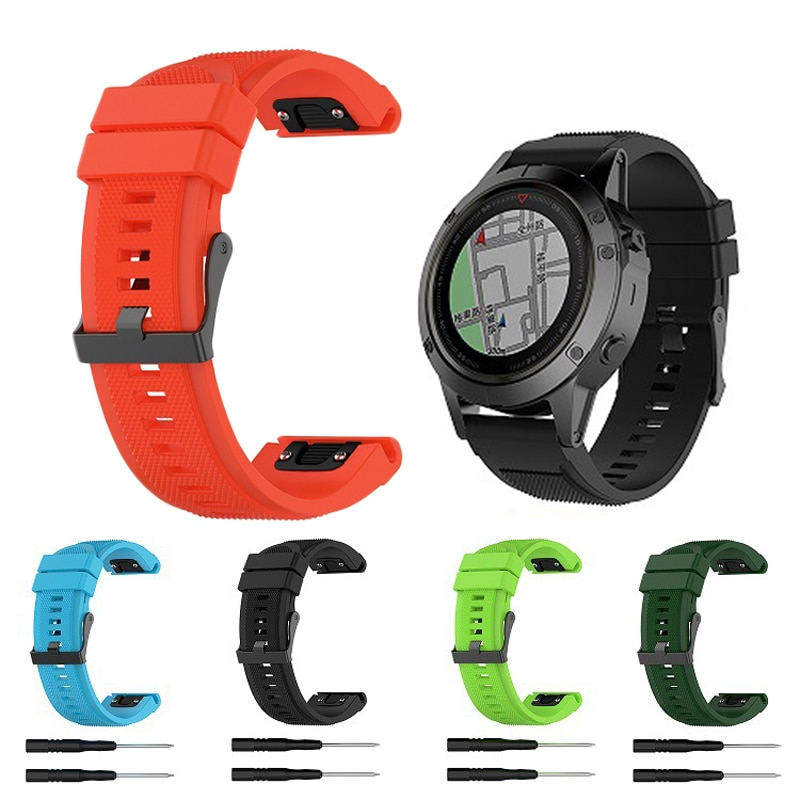 Correa de ajuste rápido de 26mm para Garmin Fenix 6X 5X, accesorios para reloj inteligente, pulsera deportiva de silicona, correa para Garmin Fenix 3