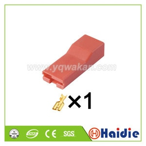 5sets 1pin Auto plastic housing plug electric wiring harness cable plug connector