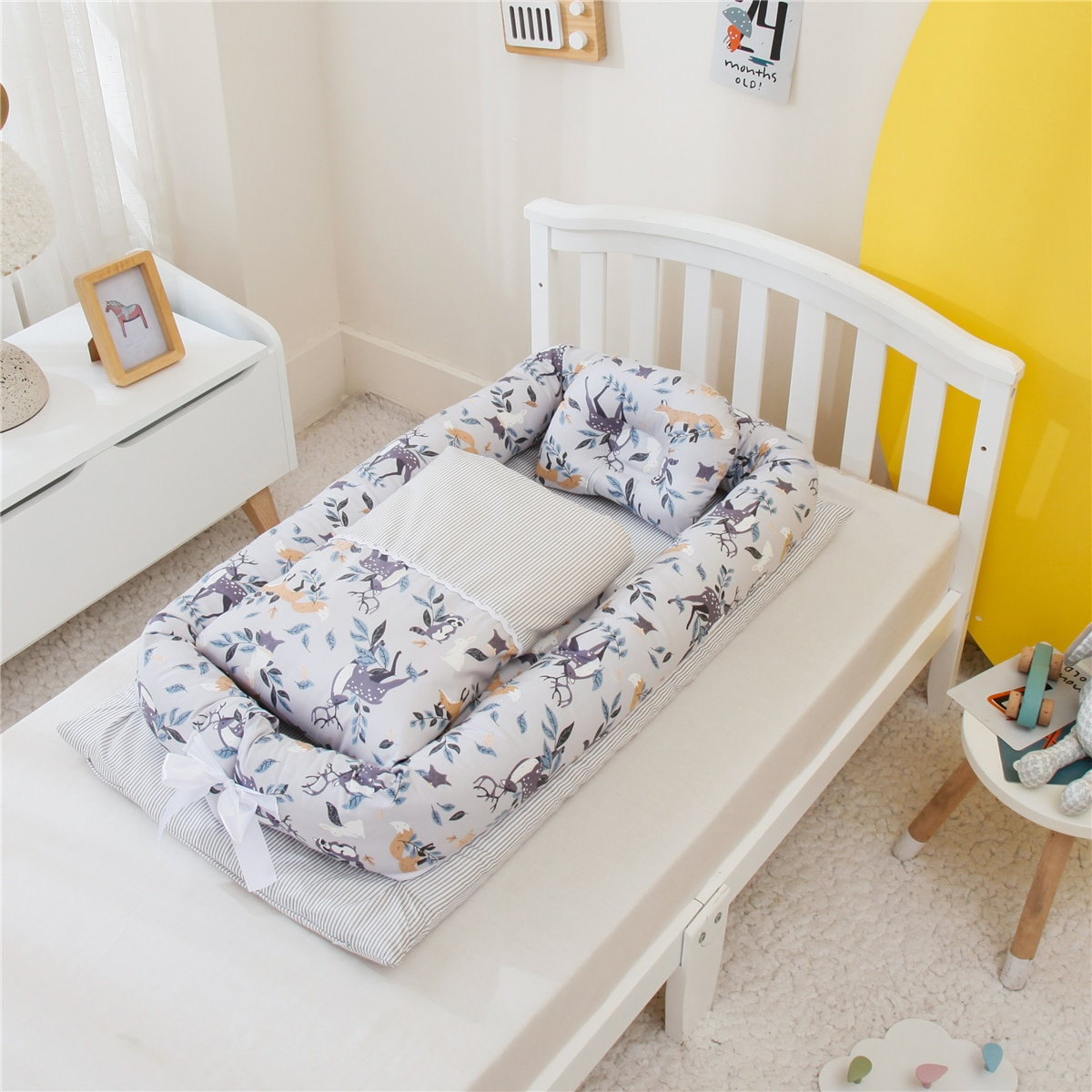 3pcs/set Portable Baby Nest Bed with Quilt Bedding Set Cotton Crib for Newborn Babynest Baby Nursery Carrycot Co Sleeper Bed