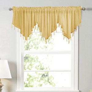Solid Color Curtain Window Screen Triangular Drapery Kitchen Curtain Small Curtain Wear Rod Curtain Finished lace Curtain