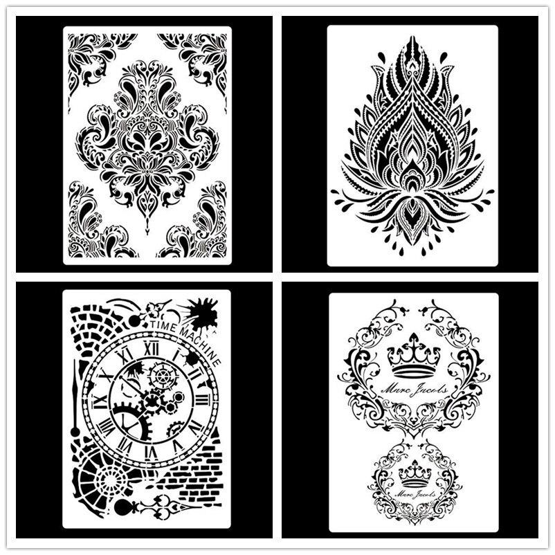 Настенная роспись формата А4, дизайнерская рама для трафареты скрапбукинга, штамп, альбом, декоративное тиснение, Крафтовая бумага, шаблоны ...