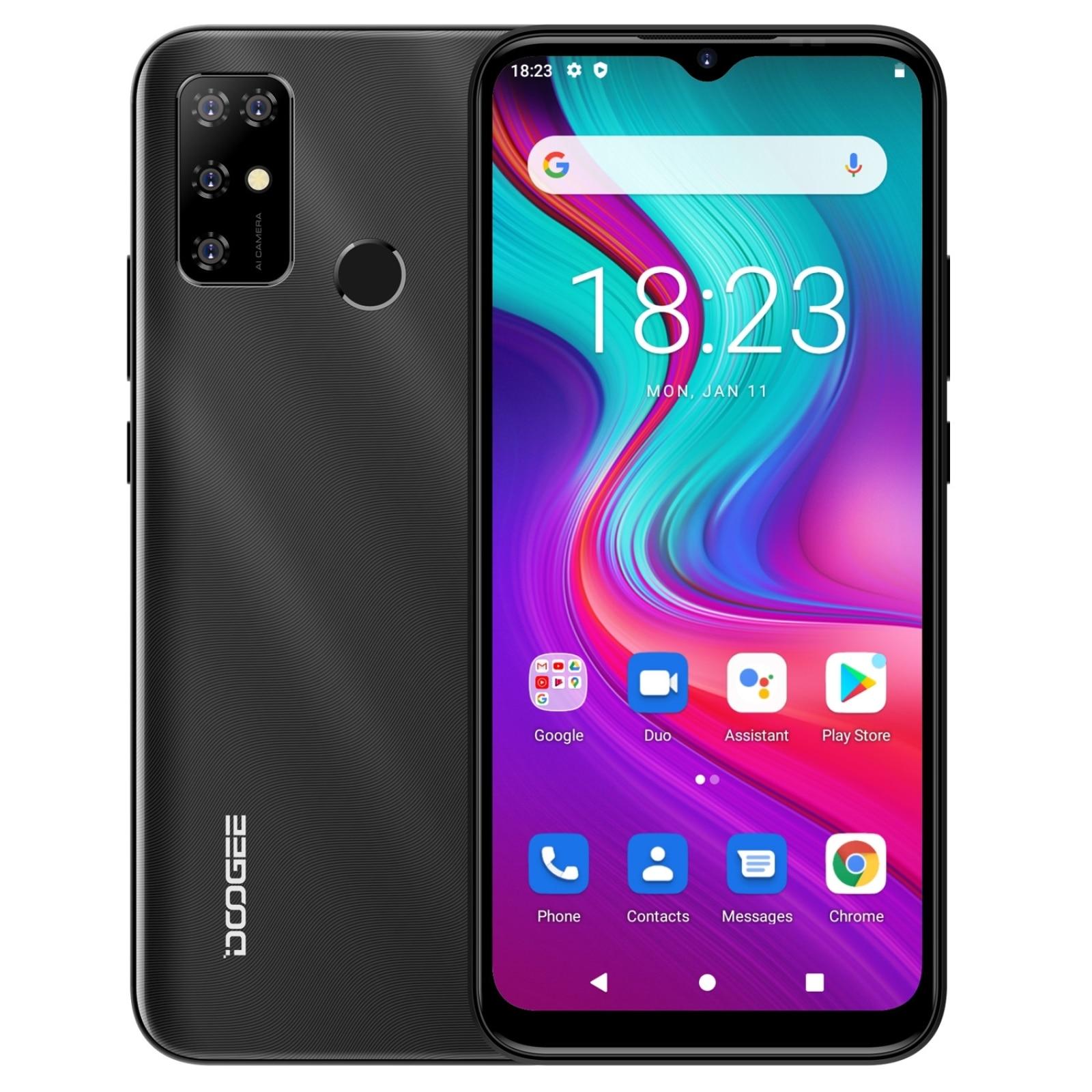 Перейти на Алиэкспресс и купить Смартфон DOOGEE X96 Pro, 6,52 дюйма, 4 + 64 ГБ, 8 ядер, 1,6 ГГц, Android 11, 5400 мАч