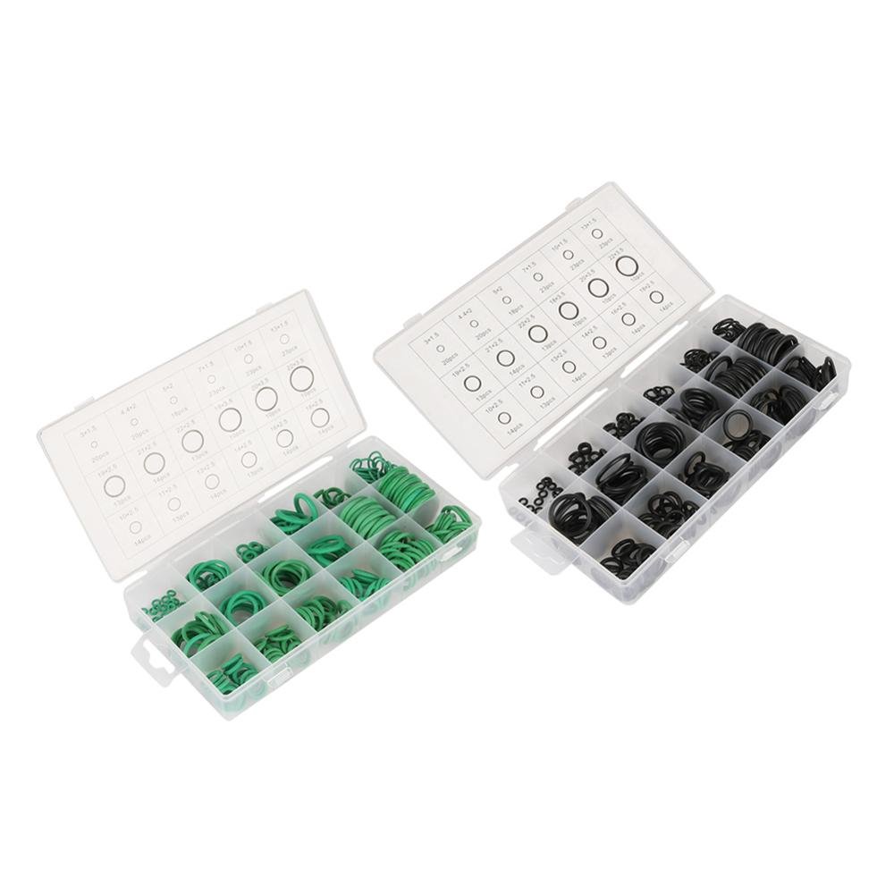 Kit de surtido de juntas tóricas de 7 tipos, juntas de goma NBR, juntas O juntas de riego para jardín, arandelas de conector negro/verde
