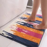 rectangular thicken bedroom living room carpet floor mats simple household kitchen bathroom door absorbent non slip floor mats