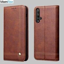 Nouvelle couverture en cuir Vintage pour Huawei Nova 5T portefeuille de luxe support de carte aimant livre couverture décontracté étui de téléphone portable Fundas