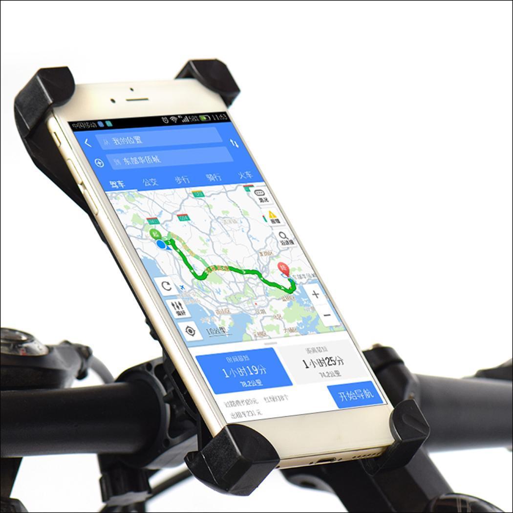 Bicicleta saco de bicicleta suporte do telefone da bicicleta guiador durável motocicleta girando 360 graus suporte do telefone para celular