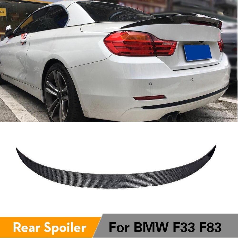 الخلفي الجذع المفسد لسيارات BMW 4 سلسلة F33 F83 M4 للتحويل 2014 - 2019 ألياف الكربون الخلفي الجذع التمهيد الشفة الجناح