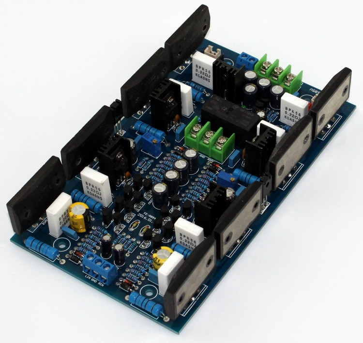 YWJJX-لوحة مضخم الطاقة ، طاقة عالية ، ثنائي القناة ، 170 × 100 مللي متر ، 300 واط ، 300 واط ، فئة A ، Sanken 2SA1494 / 2SC3858