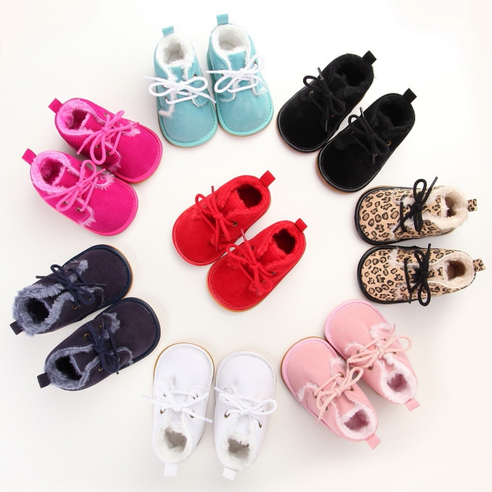 kids winter snow boots boys girls mid calf slip resistant children s rubber boots plush warm outdoor casual shoes size 24 39 Infant Toddler Boots Winter Baby Girls Boys Snow Boots Warm Plush Soft Bottom Leather Outdoor Kids Children Casual Shoes