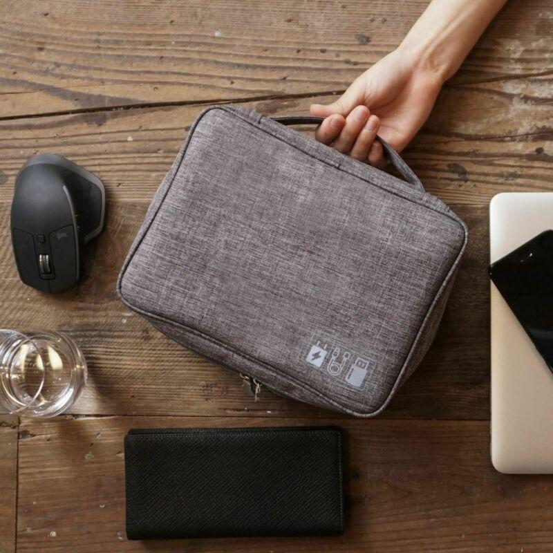 Bolsa de almacenamiento Digital, estuche organizador de dispositivos de viaje para disco...