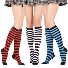 สีดำ Lolita ลายถุงเท้าผู้หญิงตลกคริสต์มาสของขวัญเซ็กซี่ต้นขาสูงไนลอนถุงน่องยาวน่ารักถุงเท้า...