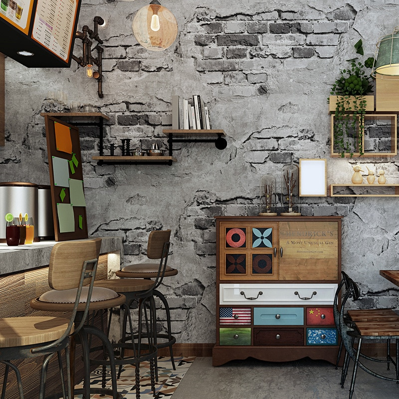 Винтаж кирпичная стена для Гостиная Спальня наклейки на стену в бар