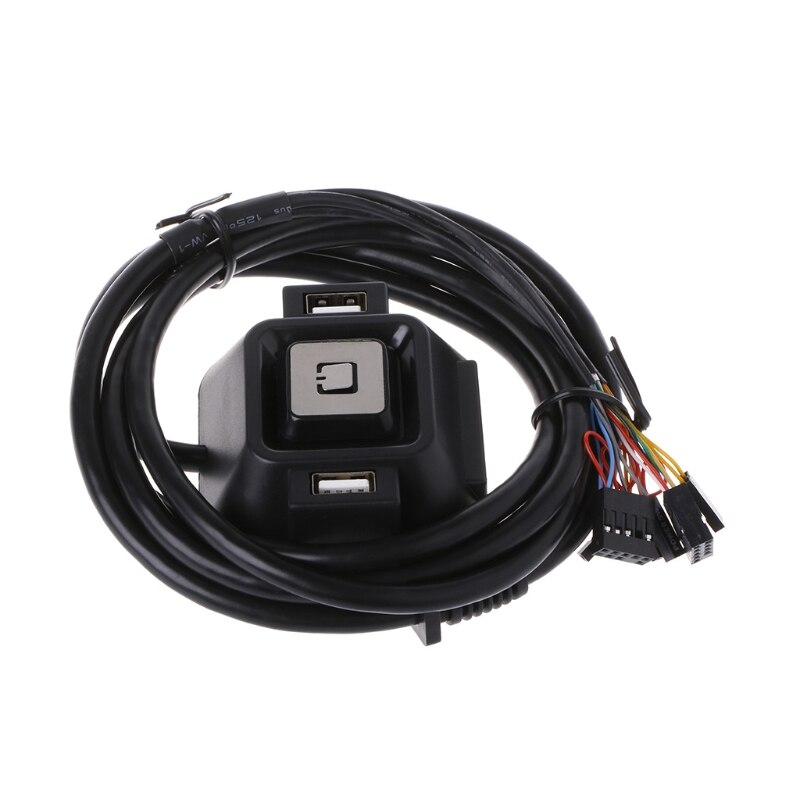 Desktop Computer PC Case Power Supply on/off Reset Button Switch with Extender Cable