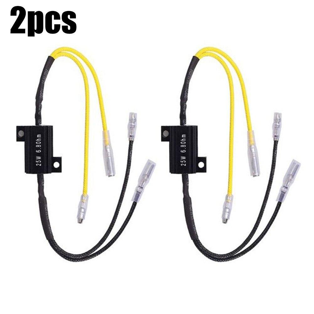 1 пара автомобильных резисторов для декодирования нагрузки экстренный светодиодный светильник ремонт 25 Вт 6,8 Ом нагрузочные резисторы в ал...