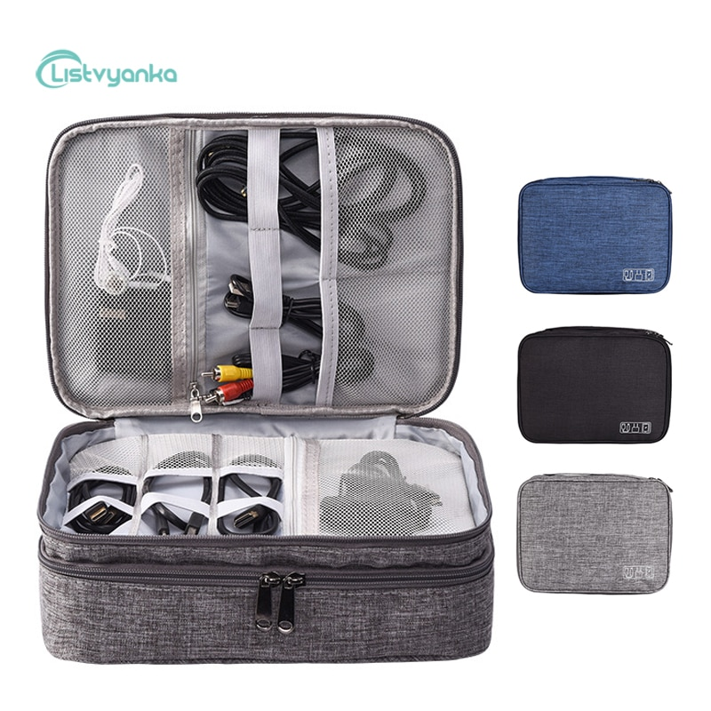 Cable Organizer Bag Electronic Storage Bag Gadget Organizer Charger Cable Wires Headphone Case Trave