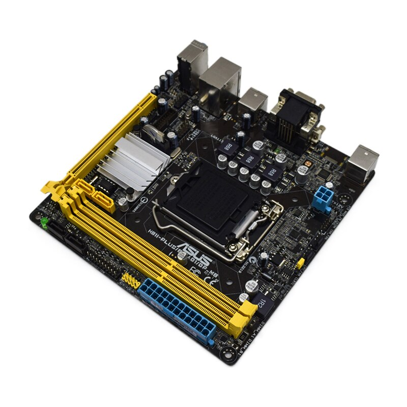 For ASUS H81I-PLUS/BM1AD1/DP_MB Desktop Mainboard Intel H81 LGA 1150 DDR3 dual channel mini itx PCI-E X16 Slot USB3.0