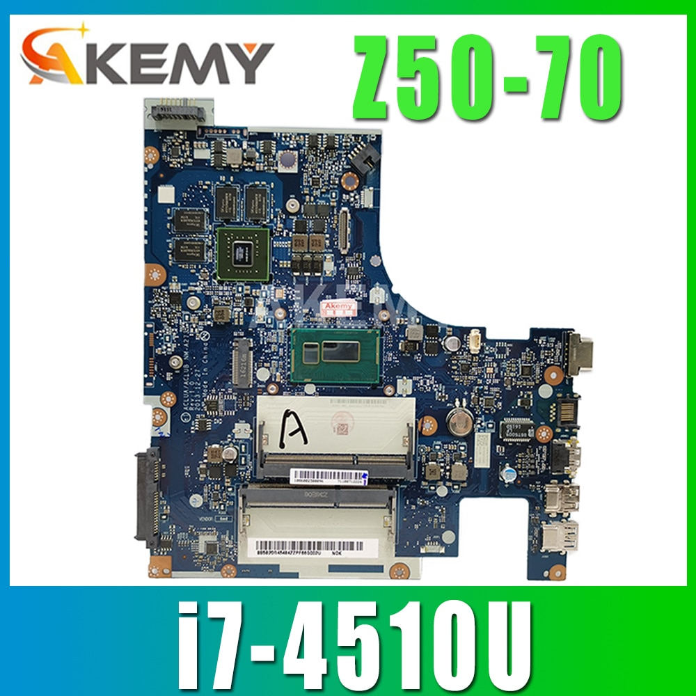 SAMXINNO Laptop motherboard For LENOVO Ideapad Z50-70 I7-4510U Notebook Mainboard NM-A273 SR1EB  GT820M/GT840M GPU DDR3