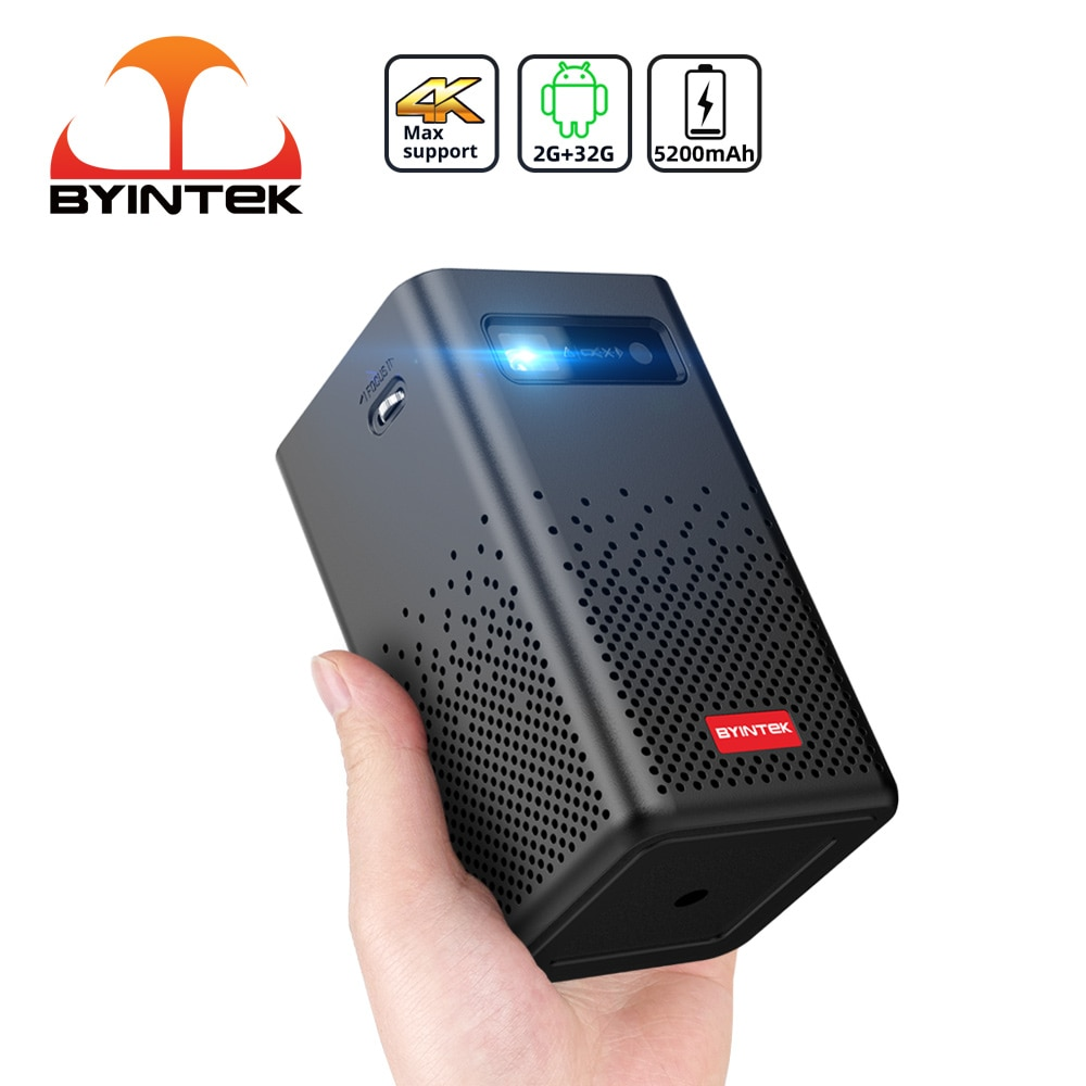 BYINTEK P20 Portable Wifi Smart Android Mini LED DLP Home Theater Video Projector for Smartphone PC Tablet