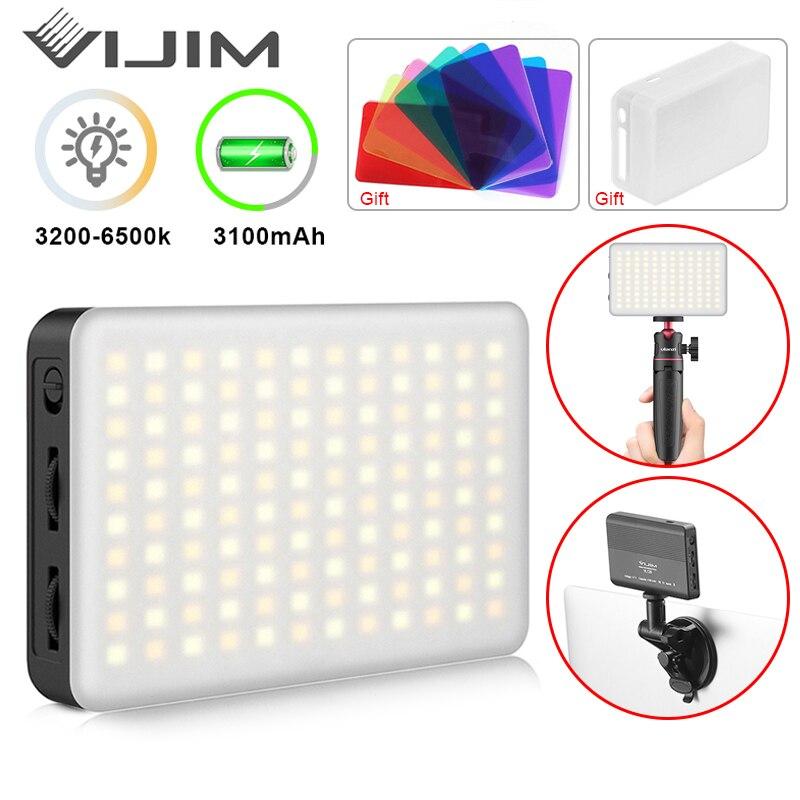 VIJIM رقيقة جدا DSLR LED ضوء الفيديو على التصوير الفوتوغرافي Vlog ملء ضوء مصباح مع الحذاء البارد للكاميرا الهاتف الذكي DSLR SLR