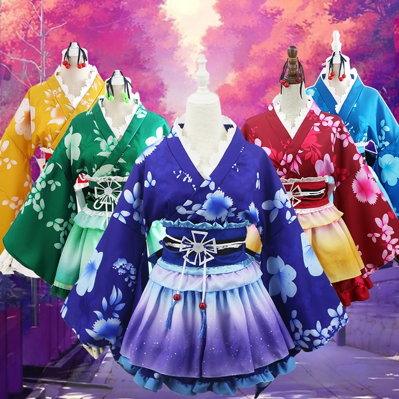Lovelive! Cosplay amor ao vivo quimono yazawa nico cosplay trajes para mulher menina sonoda umi nishikino maki honoka kosaka honoka