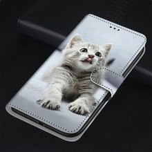 Funda de gato León bestia genial para Sony X L2 L3 XA2 Plus XA1 Plus Xperia 10 Wolf Tiger ranura para tarjeta imán funda de teléfono Flip Capa DP08F