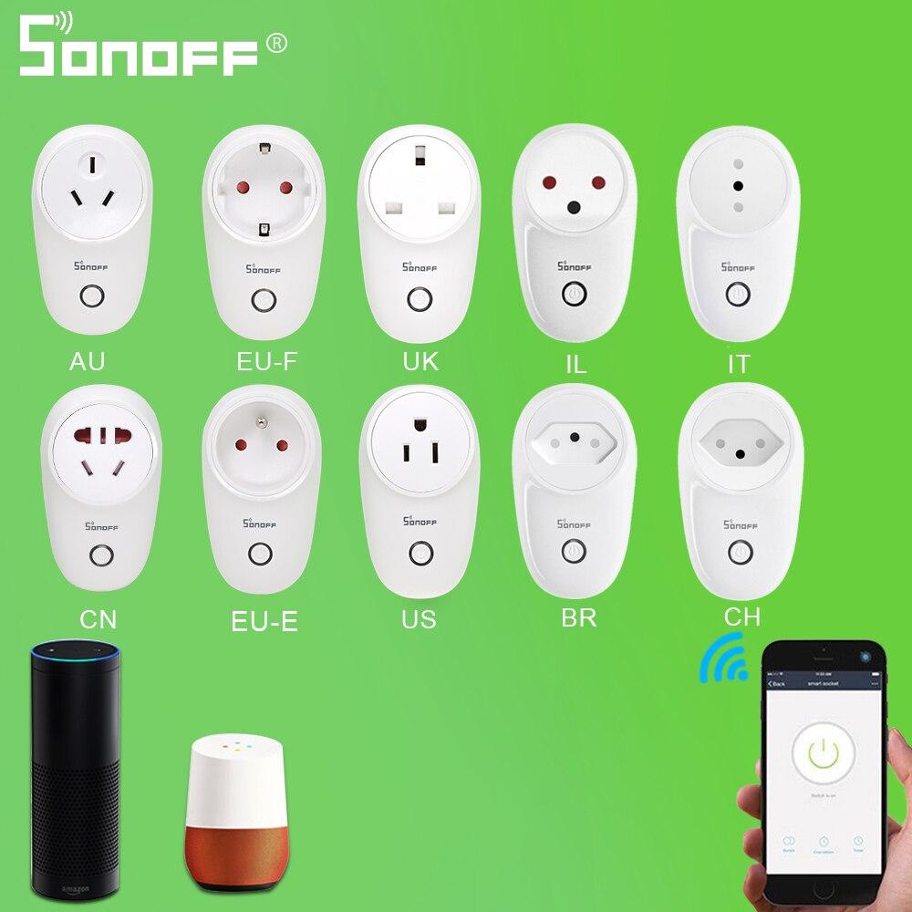 SONOFF S26 10A Wifi Smart Socket Power Plug EU-E/EU-F/UK/AU/US/BR/IT/IL/CH/CN Wireless Remote Control support Google Home Alexa