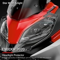 motorcycle accessories headlight guard lens protection clear front lamp cover for bmw f900xr f 900 xr f900 xr 2020 2021
