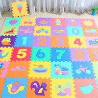 10 шт./компл. 30*30 см с рисунком животных, детские игрушки игровой коврик-пазл, детские коврики из вспененного ЭВА для йоги, коврики для ползани...