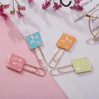 1 Pcs Colorful Book Shape Metal Paper Clips Bookmarks Page Holder Photo Memo Clip Promotional Gift School Office Stationery