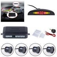 Car Auto Parktronic LED Parking Sensor With 4 Sensors Reverse Backup Car Parking Radar Monitor Detector System Alarm prompt