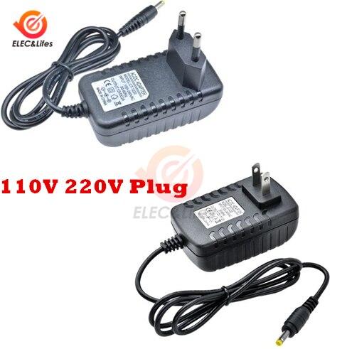 Adaptador de fuente de alimentación de 100-240V CA a cc 12V 2A adaptador de enchufe cargador estándar EU US 4,0mm * 1,7mm para cambiar la lámpara de tira de luz LED