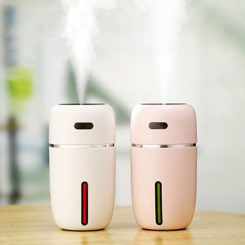 200ml Cute I Ultrasonic Air Humidifier Car Humidifiers with 7 Colors LED Lamps Mist Maker Mini Office Desktop Air Purifier